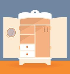an empty white closet vector image