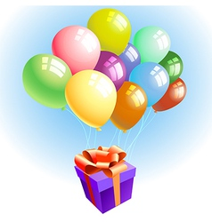 balloons with a gift vector image
