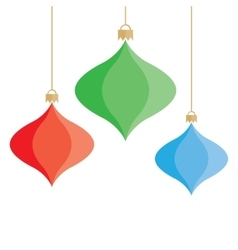 Christmas colorful baubles background vector image vector image