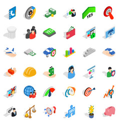 creative company icons set isometric style vector image