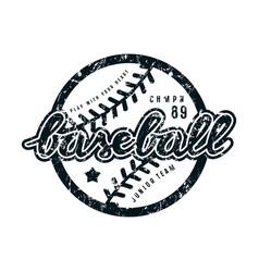 emblem of baseball team vector image vector image