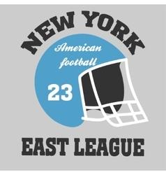 Football t-shirt ny vector