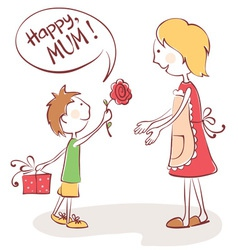 Mother Day Card vector image vector image