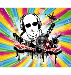 musical event fly vector image vector image