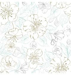 Seamless pattern scatch of spring sakura vector image vector image