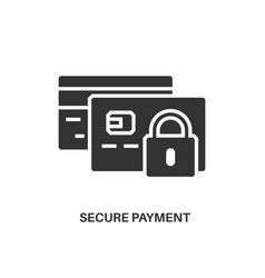 Secure payment icon vector