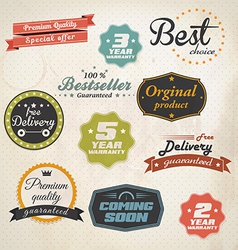 stickers and ribbons vector image vector image