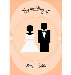 Wedding couple invitation vector