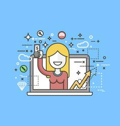 woman money in hand design vector image