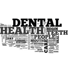 A guide to dental health text word cloud concept vector