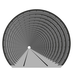 A subway tunnel or car underground the vector