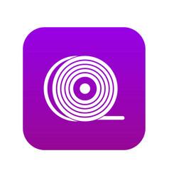 Abs or pla filament coil icon digital purple vector