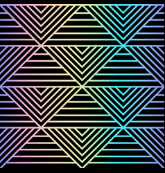 Abstract holographic geometric seamless patterm vector
