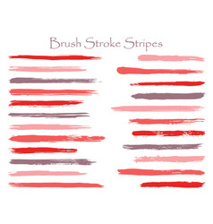 Abstract ink brush stroke stripes sets vector