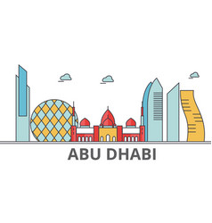Abu dhabi city skyline vector
