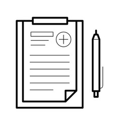 assignments sheet icon vector image