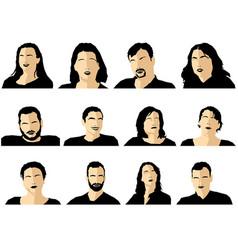 avatar profile picture icon set vector image