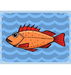 Background with fish vector
