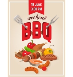 Barbecue Weekend Poster vector image