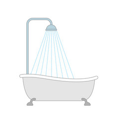 bath with shower bathroom accessory vector image