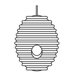 Bee hive tree icon outline style vector