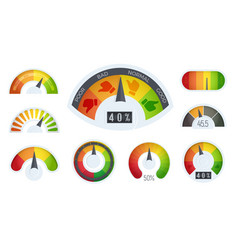 business meter logos template cartoon realistic vector image