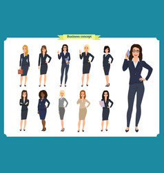 business people set womens businesswoman vector image