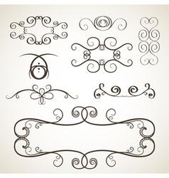 Calligrephic elements vector