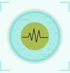 cardiogram color icon vector image