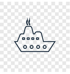 cargo ship front view concept linear icon vector image