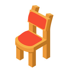 Chair icon isometric style vector