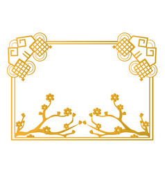 Chinese golden frame vector