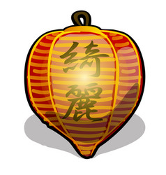 chinese paper holiday lantern red color isolated vector image