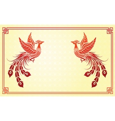 Chinese phoenix template vector image