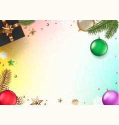 Christmas composition top view vector