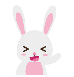 Colorful adorable and cheerful rabbit wild animal vector