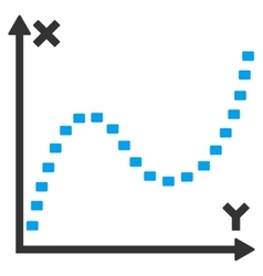 Dotted Function Graph Icon vector