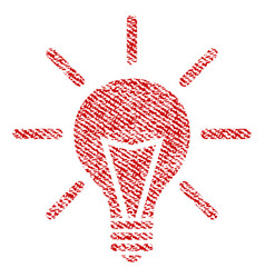 Electric light fabric textured icon vector
