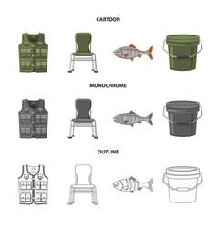 Fish and fishing sign vector