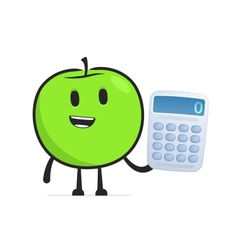 Funny cartoon apple vector