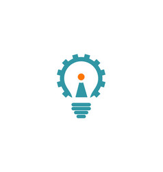 gear light bulb technology logo vector image