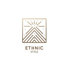 geometric sacred abstract emblem tattoo vector image