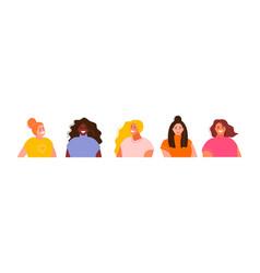 Girls modern avatars vector