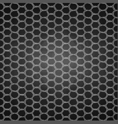 graphic seamless pattern honeycomb vector image