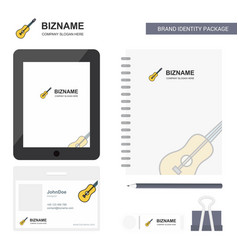 guitar business logo tab app diary pvc employee vector image