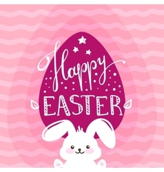 Happy Easter greeting card design with vector