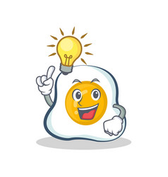 Have an idea fried egg character cartoon vector