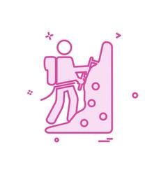 hill climb icon design vector image