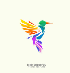 Humming bird concept design template vector