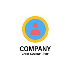 Interface navigation user business logo template vector